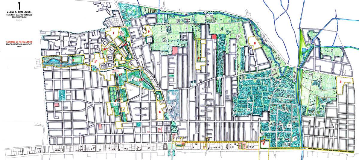 Pietrasanta, Regolamento urbanistico