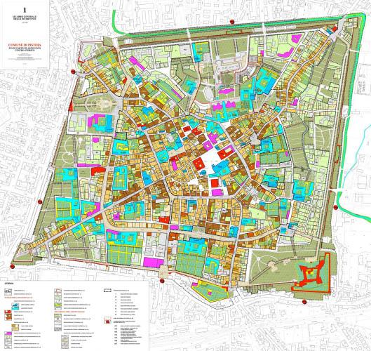 Pistoia, Piano della città storica