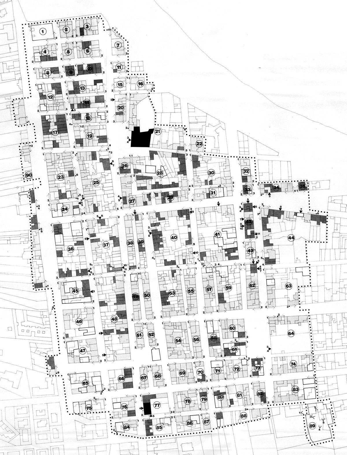 San Vito Lo Capo, Piano della città storica