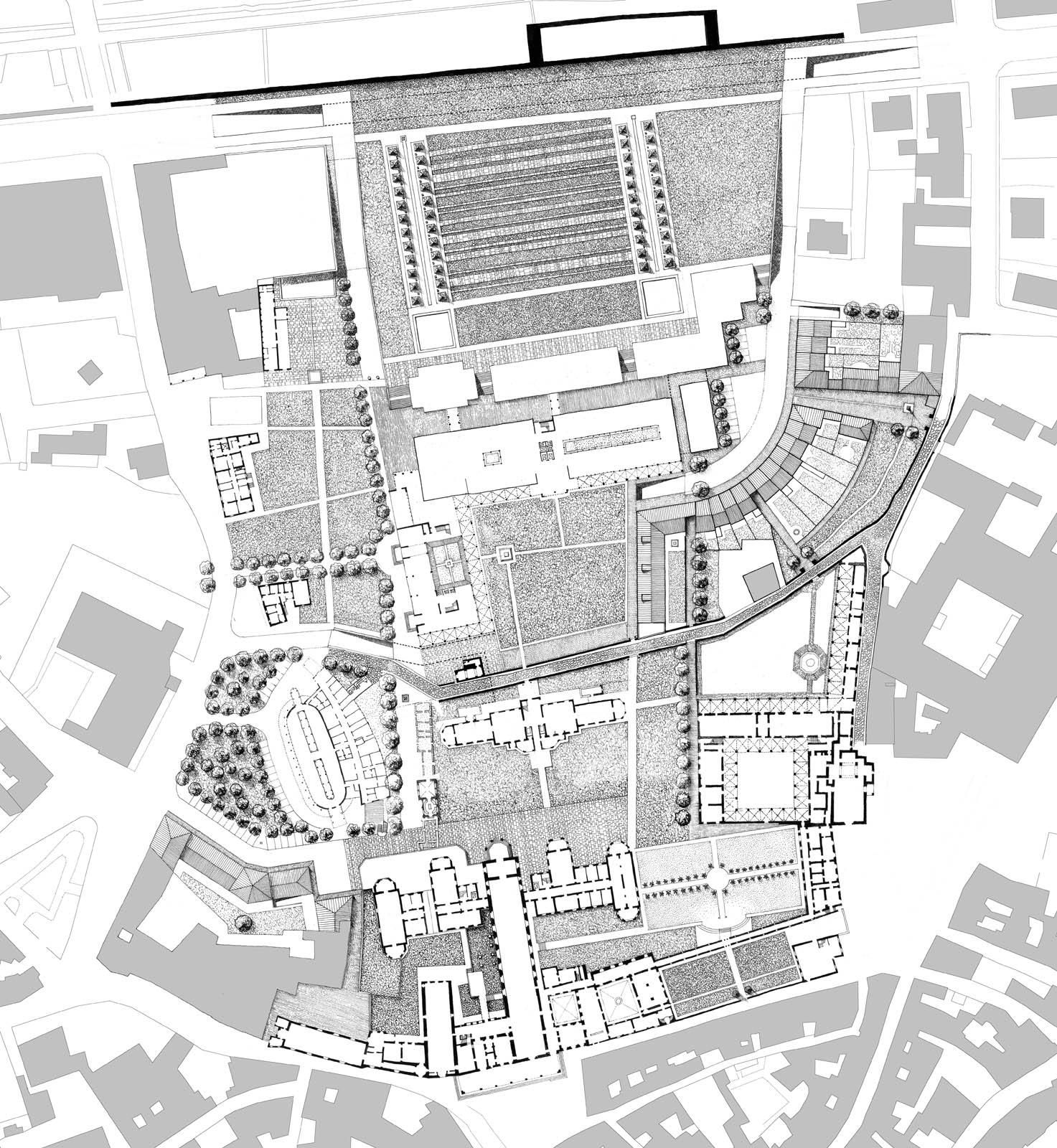 Pistoia ristrutturazione dell 39 ospedale del ceppo for Planimetrie delle case americane